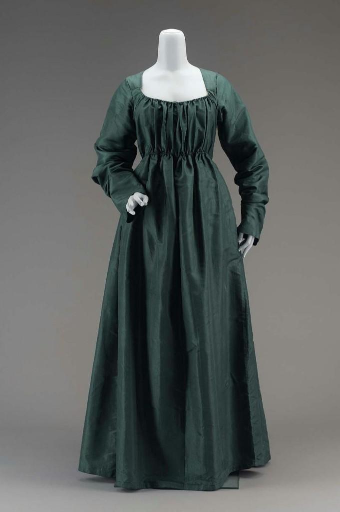 Robe en soie , après 1790, Boston Museum, USA.