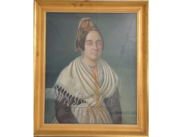 Portrait d'Arlesienne, Avignon, vente du 04 02 2012.