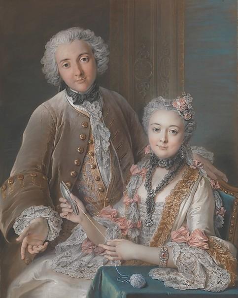Double portrait par Coypel, Museum of Arts of New-York.