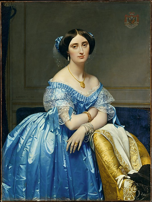 La princesse de Broglie par Ingres, 1851-1853.