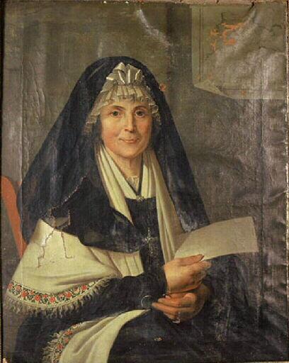 Portrait de femme, dernières années du XVIIIe s., Musée de Montauban.