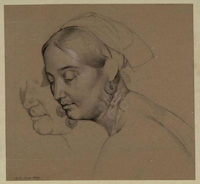 Etude, G.Bodinier, Musee de Beaux Arts d'Angers.