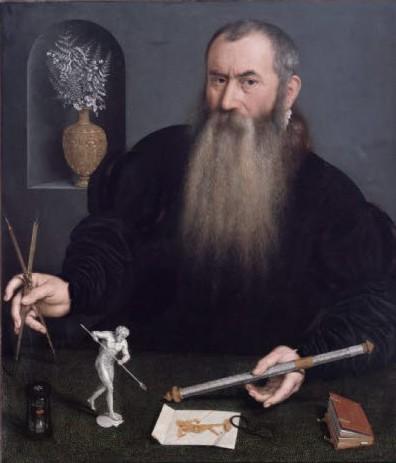 Nicolas de Neufchatel, portrait de l'orfèvre Wenzel Jamnitzer, vers 1562, musee geneve