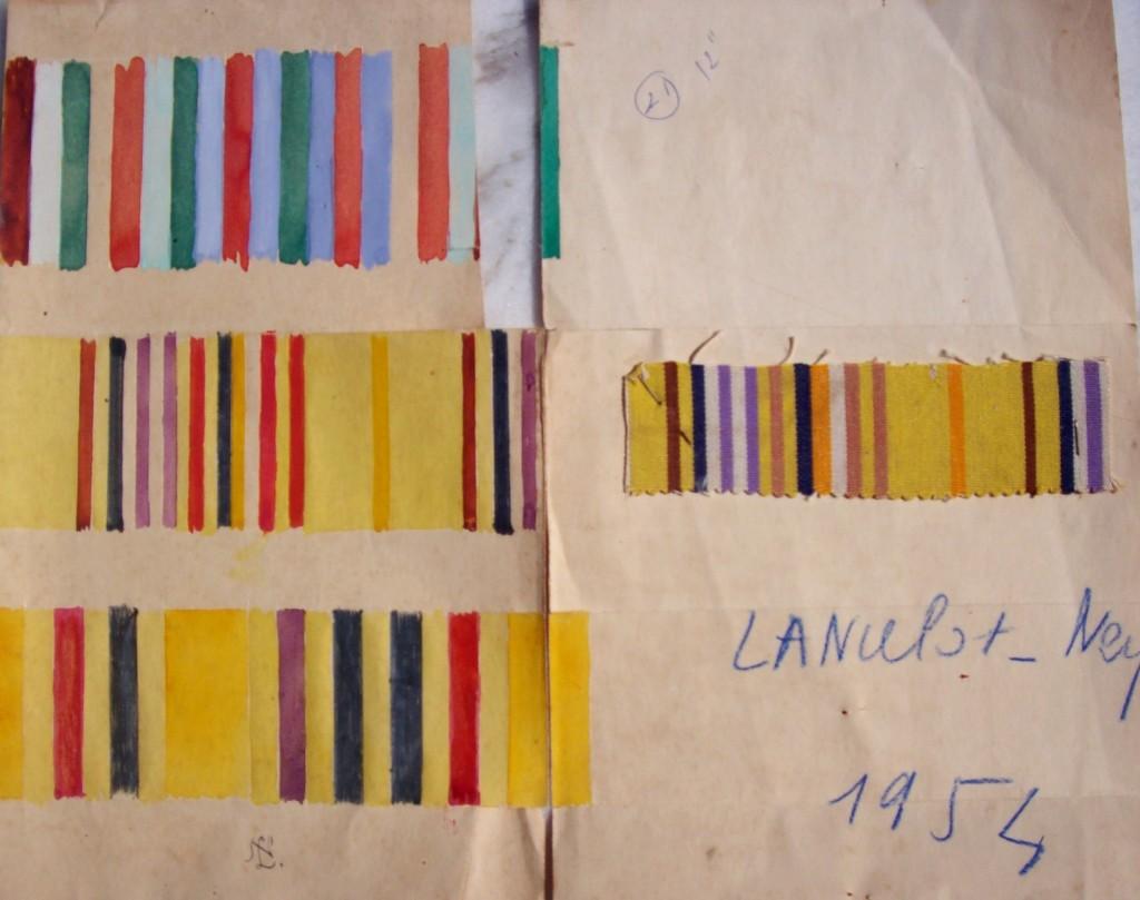 projet aquarellé de Lancelot Ney en 1952.
