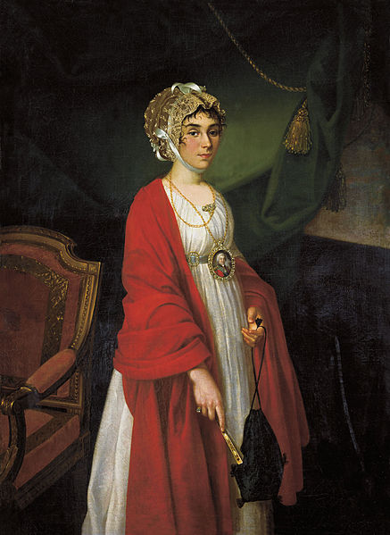 Nikolai Argunov (1771-1829), Portrait de  Praskovya Ivanovna Zhemchugova Sheremeteva,1803