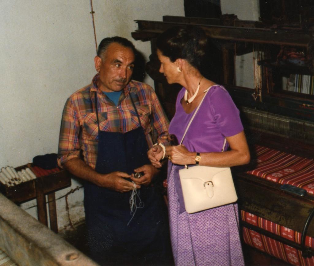 Visite de Mme Anne-Aymone Giscard d'Estaing a l'usine en 1979.