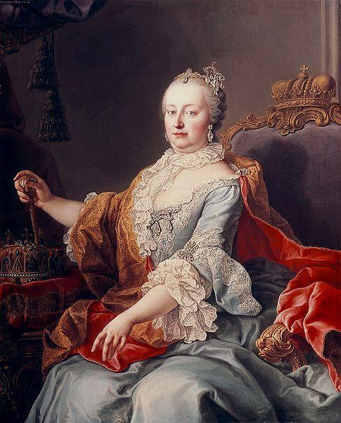 Martin van Meytens: Marie Thérèse d\'Autriche. | Institut du Grenat