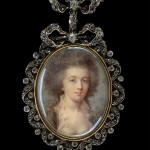 Anonyme français, broche, portrait de femme, Collection Tansey.