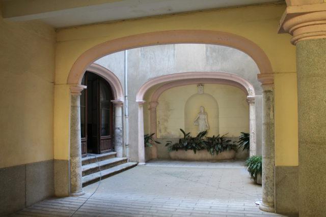 Patio de l'Hôtel particulier de la rue Foch.