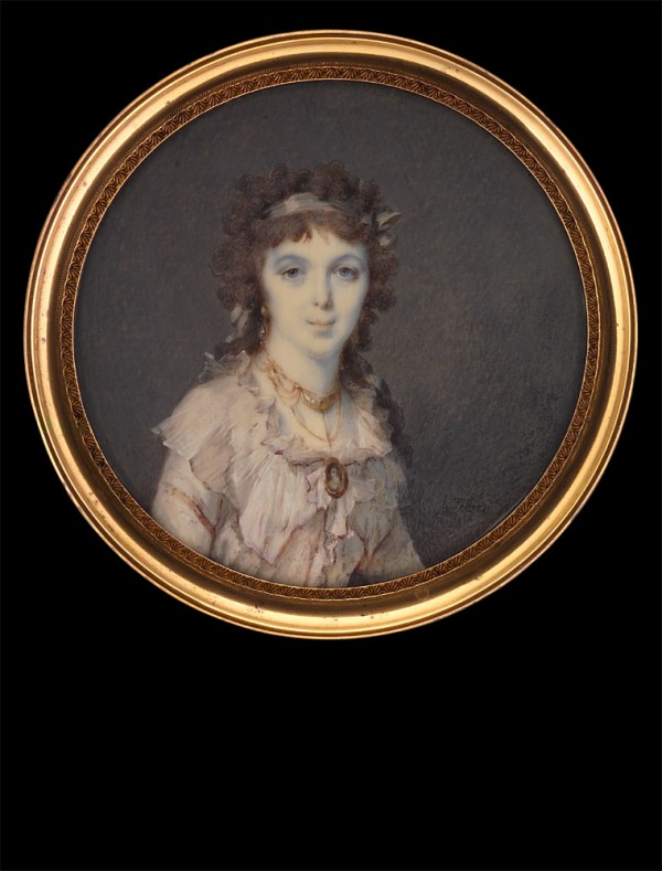 Lady in White Dress with Miniature on Necklace, 1794, collection Tansey.