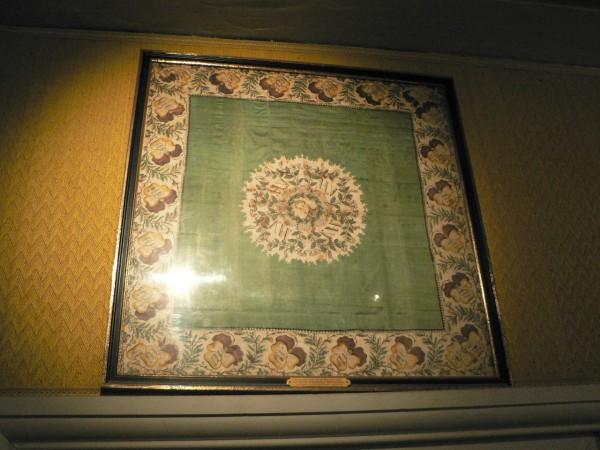 Mouchoir imprimé des partisans d'Henri V, Musée château de Chambord.