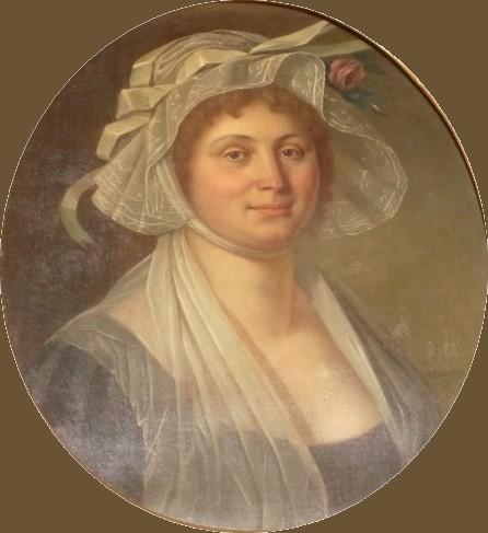 Portrait de femme, Perpignan, P.Maurin, vers 1800-1810