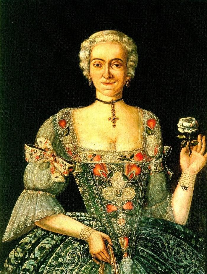 Portrait de femme, vers 1750, Slovaquie.