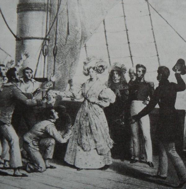 La duchesse de Berry débarquant à Marseille.