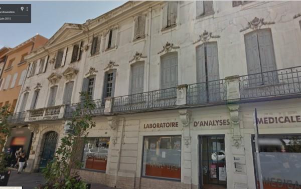hotel d'Esprer, rue Foch à Perpignan.