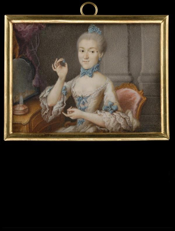 Johann Esaias Nilson, Portrait de femme, coll. Tansey.