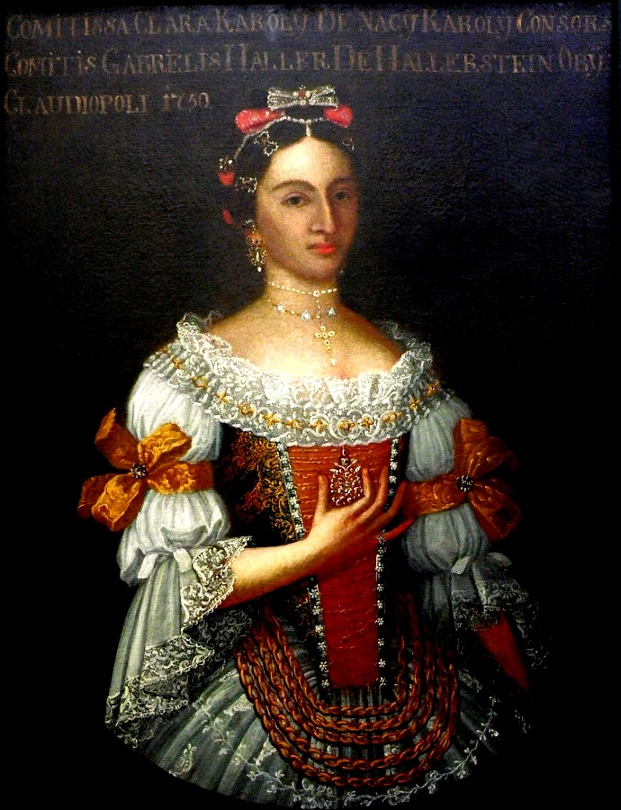 Portrait de karolyi klara, Slovaquie, avant 1750.