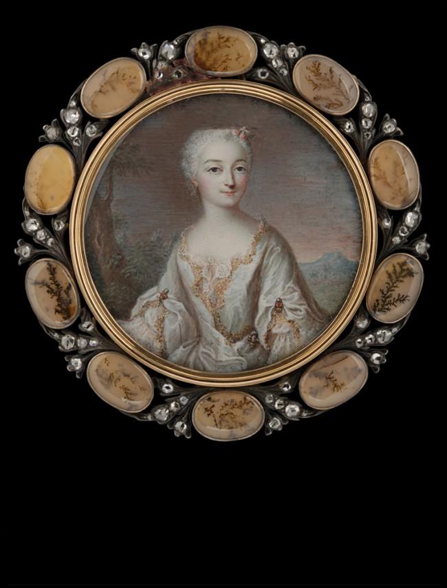 Jean Daniel Welper, portrait de femme, vers 1750, coll Tansey.