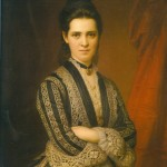 Zichy Ilona, portrait, 1877.