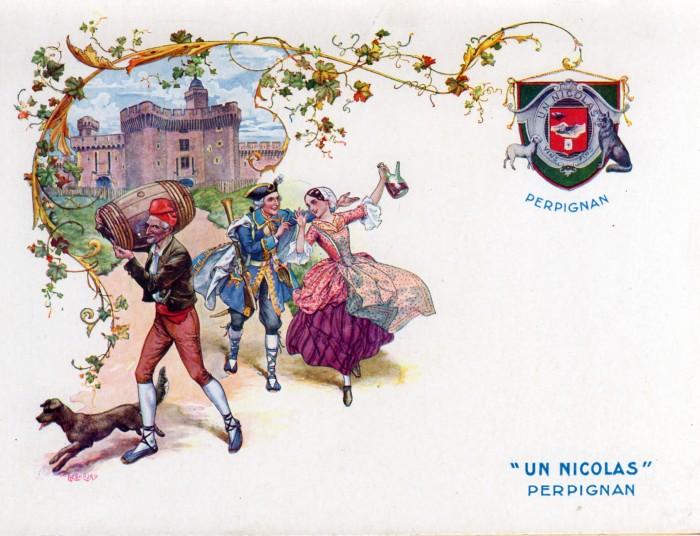 Publicité des Vins NICOLAS, Perpignan, ère moitié du 20ème s