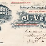 Maison Velzy, fabrique de bijoux en grenats fins, Perpignan, 1911.