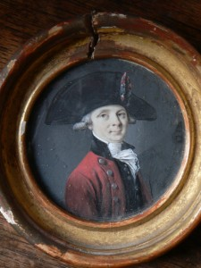 Portrait de Pradal, miniature de Jacques Gamelin, collection particulière.
