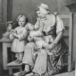 Jeune mère et ses enfants