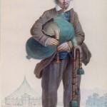 Paziols joueur de Cornemuse, A.Guiraud, vers 1850