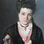 Jeune femme de la bourgeoisie catalane, au faite de la mode.