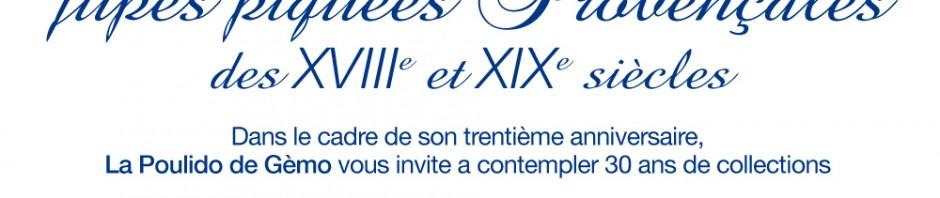affiche de l'expo de jupes piquées à Gemenos