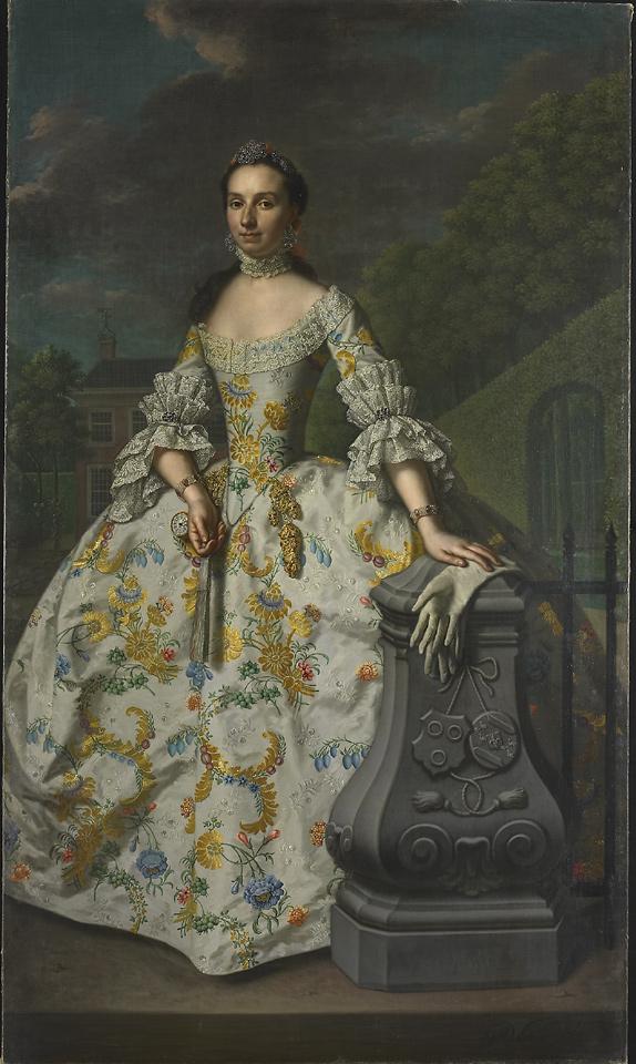 Charlotte Beatrix strick van Linschoten par Mattheus Verheyden, vers 1755.