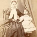 Femme et enfant, Paris, Eugène Clément photographe, Second-Empire.