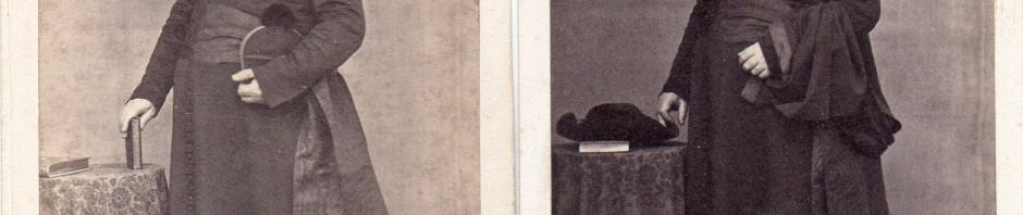 Pierre Germain, Photographe à Perpignan, double portrait d'ecclésiastique.