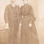 Couple de Roussillonnais, vers 1900, photo Jorré, Perpignan.