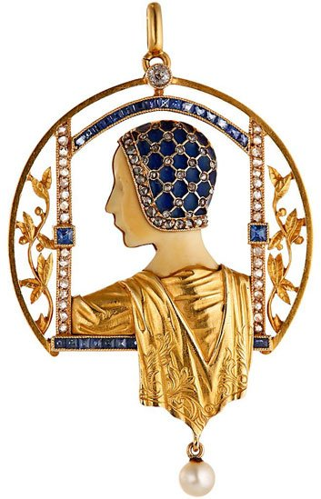 Masriera, pendentif Art nouveau, Barcelone.