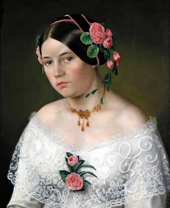 Portrait de jeune femme, Roumanie, vers 1860.