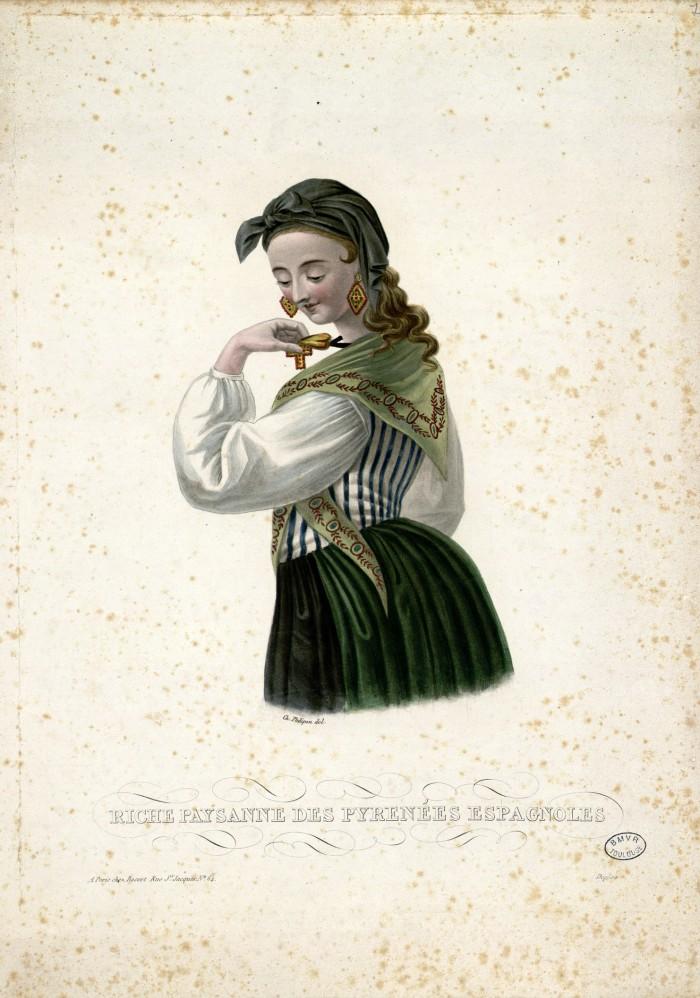 Femme des Pyrénées espagnoles.