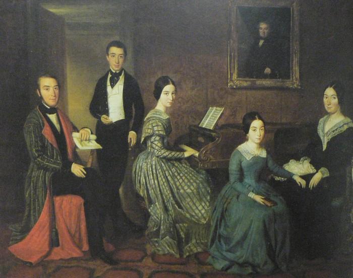 Joaquim Espartler, la famille Flaquer, vers 1845. Madrid, musée du Romantisme.