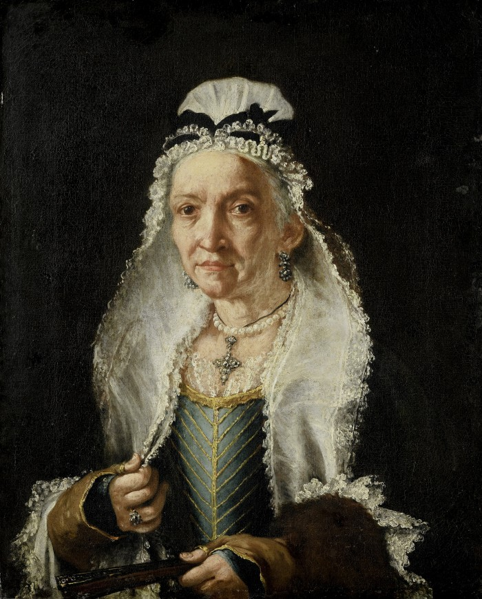 Vittore Ghislandi, portrait de dame, vers 1740.