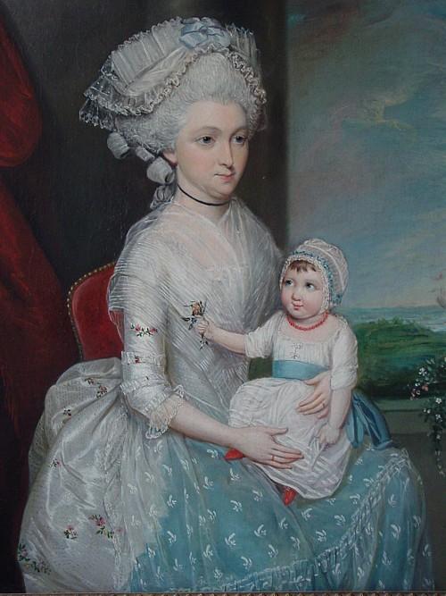 James Earl (1761-1796), portrait de Margaret Whaley Hurst, 1782, Alexander Gallery.