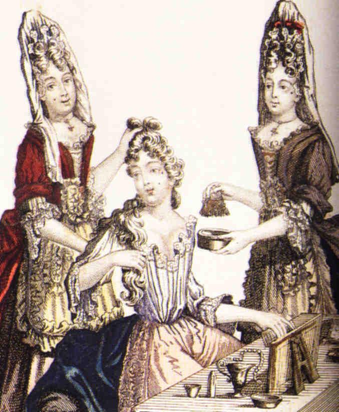Femme à sa toilette à la fin du XVIIIe s.