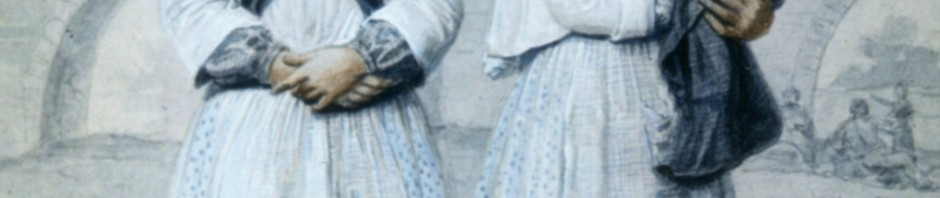 Femmes gitanas campées sous les ponts, par A.Guiraud, collection Ville de Perpignan.