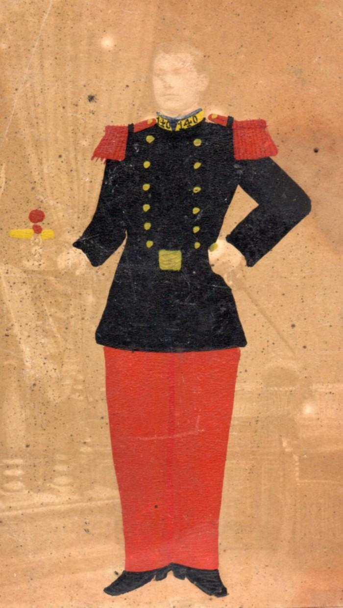 Militaire, photo Joseph Crampa, Lyon, vers 1880.