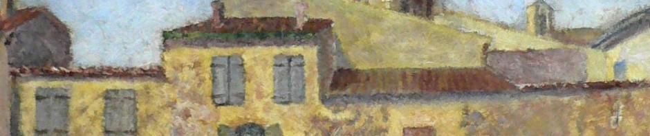 Rivesaltes et son clocher.