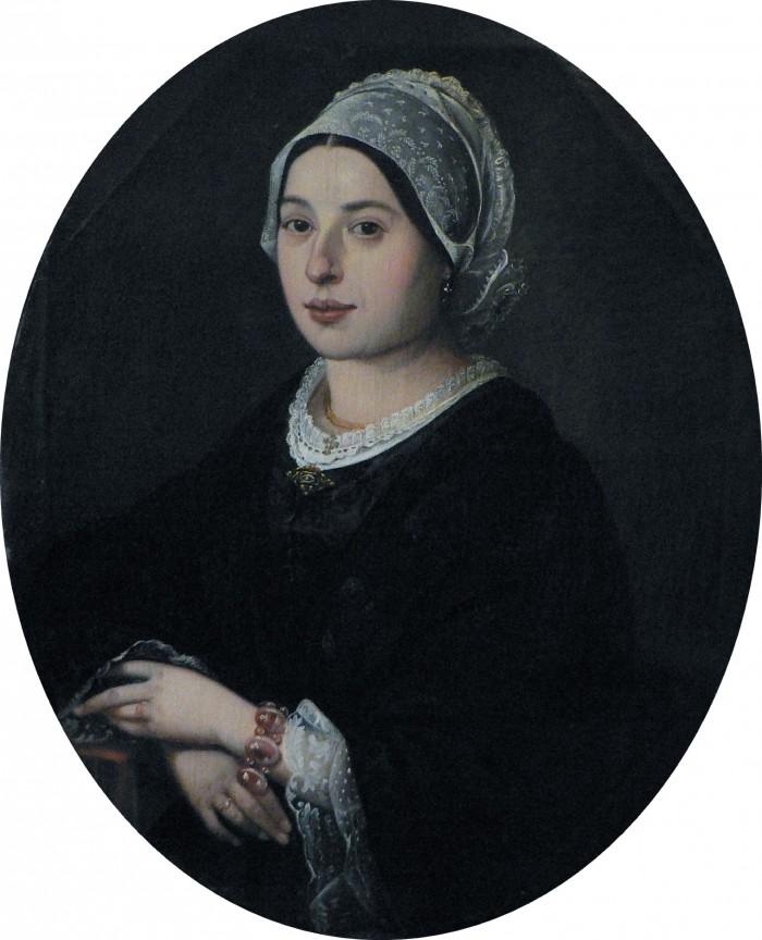 Portrait de Marie Jobe en coiffe catalane, Urbain Viguier, 1860