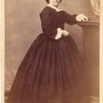 Lucie Salamo en 1863, photo Pierre Germain, Perpignan.