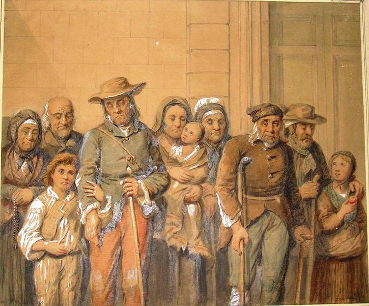 Guiraud, pauvres à Perpignan, Musée Rigaud, Perpignan.