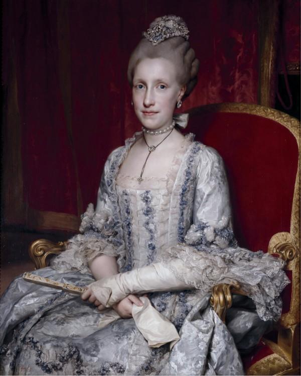 Portrait de Marie-Louise, grande-duchesse de Toscane, par Mengs en 1770