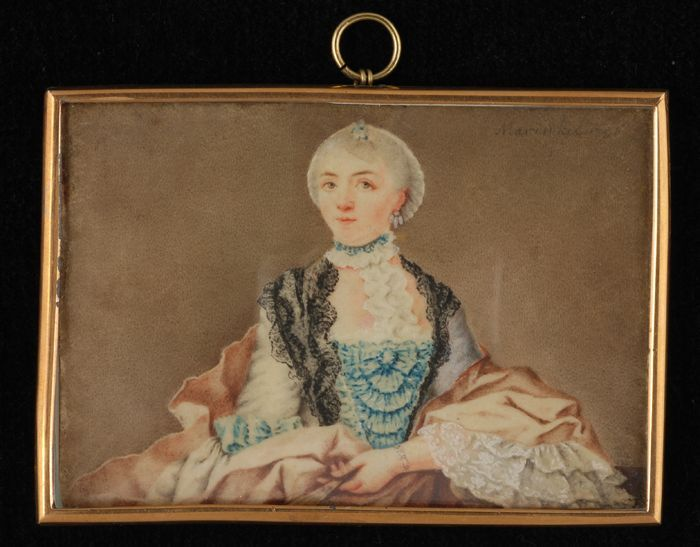 Portrait miniature de Suzanna Libertina Radermacher-Boogaert, 1756.