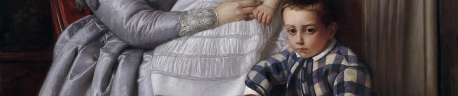 Víctor Manzano y Mejorada, Portrait de la famille du peintre, 1864-1865.